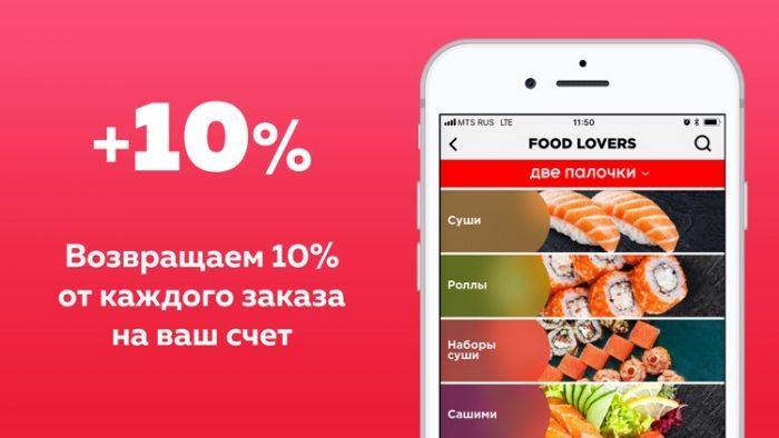Приложение FOOD LOVERS