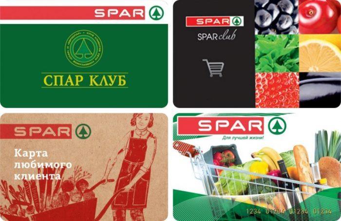 Существуют различные типы карт SPAR