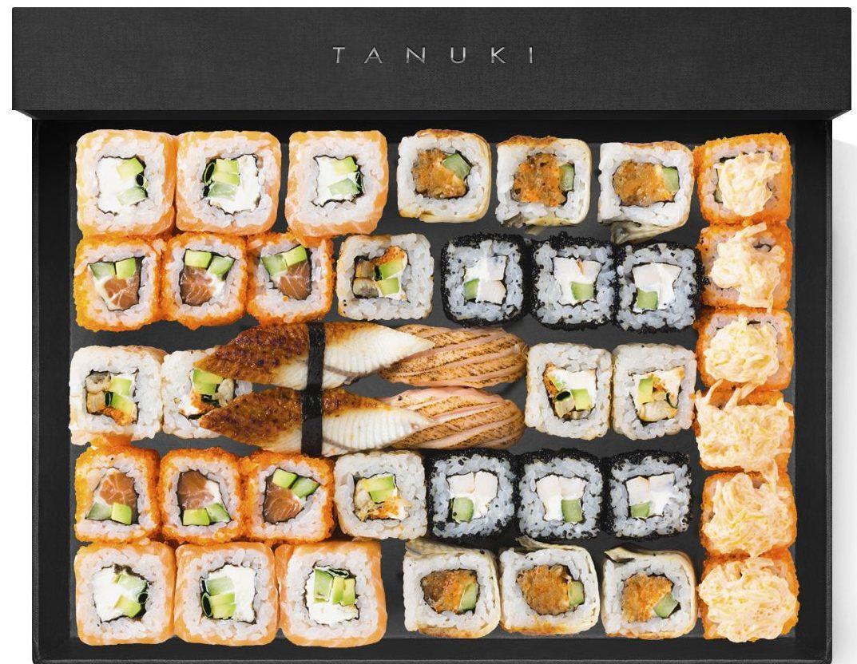 В «Тануки» богатый ассортимент