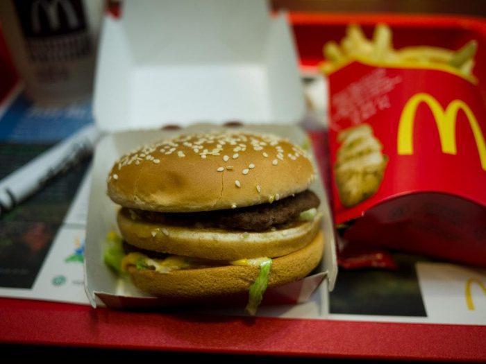 Бургер из McDonald's