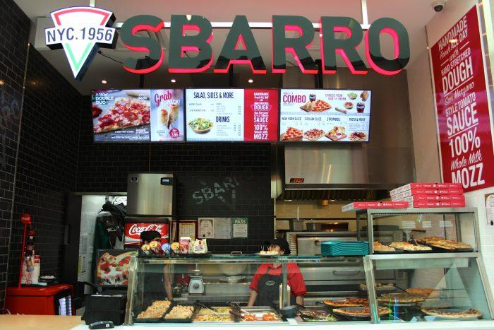 Пиццерии «Сбарро» присутствуют в ряде городов