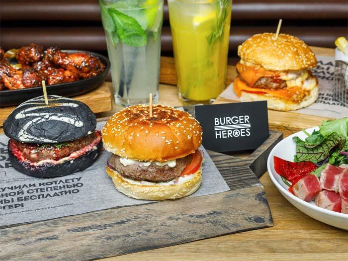 Заказать доставку Burger Heroes можно через посредников или по горячему телефону ресторана в вашем районе