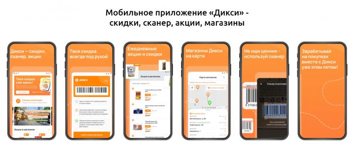 Мобильное приложение «Дикси» - скидки, сканер, акции, магазины