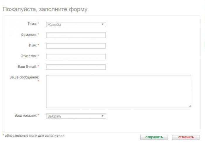 Заполнение онлайн-формы
