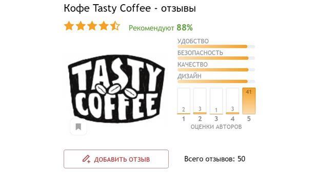 Отзывы о Tasty Coffee